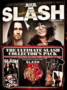 SLASH-ULTIMATE-FANPACK-T-SHIRT-Size-LARGE-With-Magazine-CD-Patch-Badge-Poster