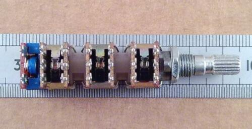 Conmutada 6 Gang 10k Lineal potenciómetro seis forma B10k Olla con interruptor on-off