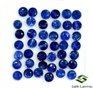 2.75 mm Natural Blue Sapphire Round Cut Lot 10 Pcs Ceylon Loose Gems