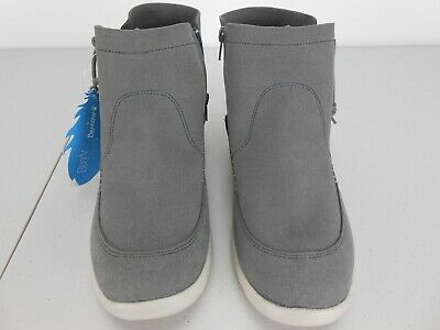 Piper Ankle Boot, Dove Grey Suede, Size