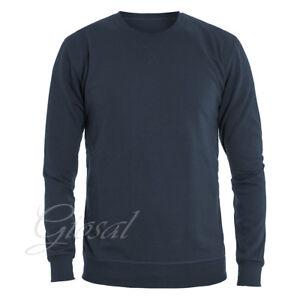 Felpa-Uomo-Tinta-Unita-Blu-Tessuto-Leggero-Primaverile-Girocollo-GIOSAL