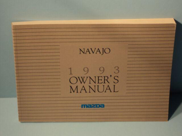 93 1993 Mazda Navajo Owners Manual