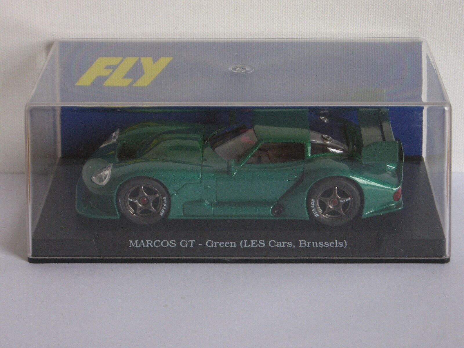 FLY Car Marcos LM 600 Green (LES Cars, Brussels) Special Edition - Ref. E23
