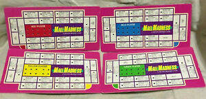 Game-Parts-Pieces-Mall-Madness-1989-Milton-Bradley-4-Player-Peg-Cards