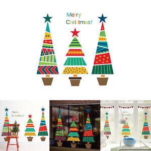 Imagenes Animadas Arboles Navidad.Detalles De Cn Dibujos Animados Arbol De Navidad Adhesivo Pared Tienda Ventana Cuarto