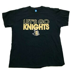 NCAA UCF Knights Shirt Size L Large Loose Fit Men's Black Tee Central Florida