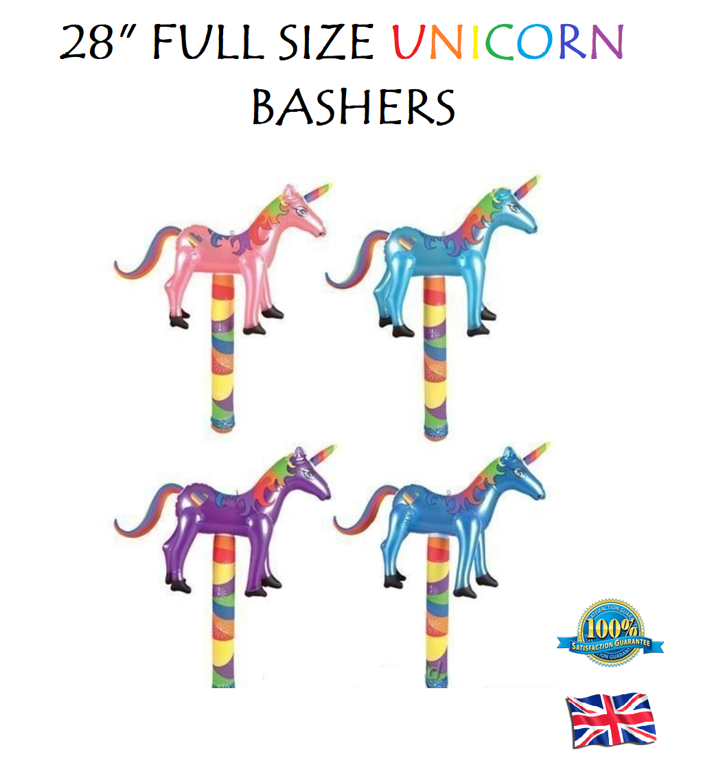 "Inflatable Unicorn Basher 28/"" Various Colours Fancy Dress Party Prop"