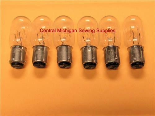 6 NEW SINGER SEWING MACHINE LIGHT BULB 15 watt 5//8/'/' BASE 15 66 99 201 221 401