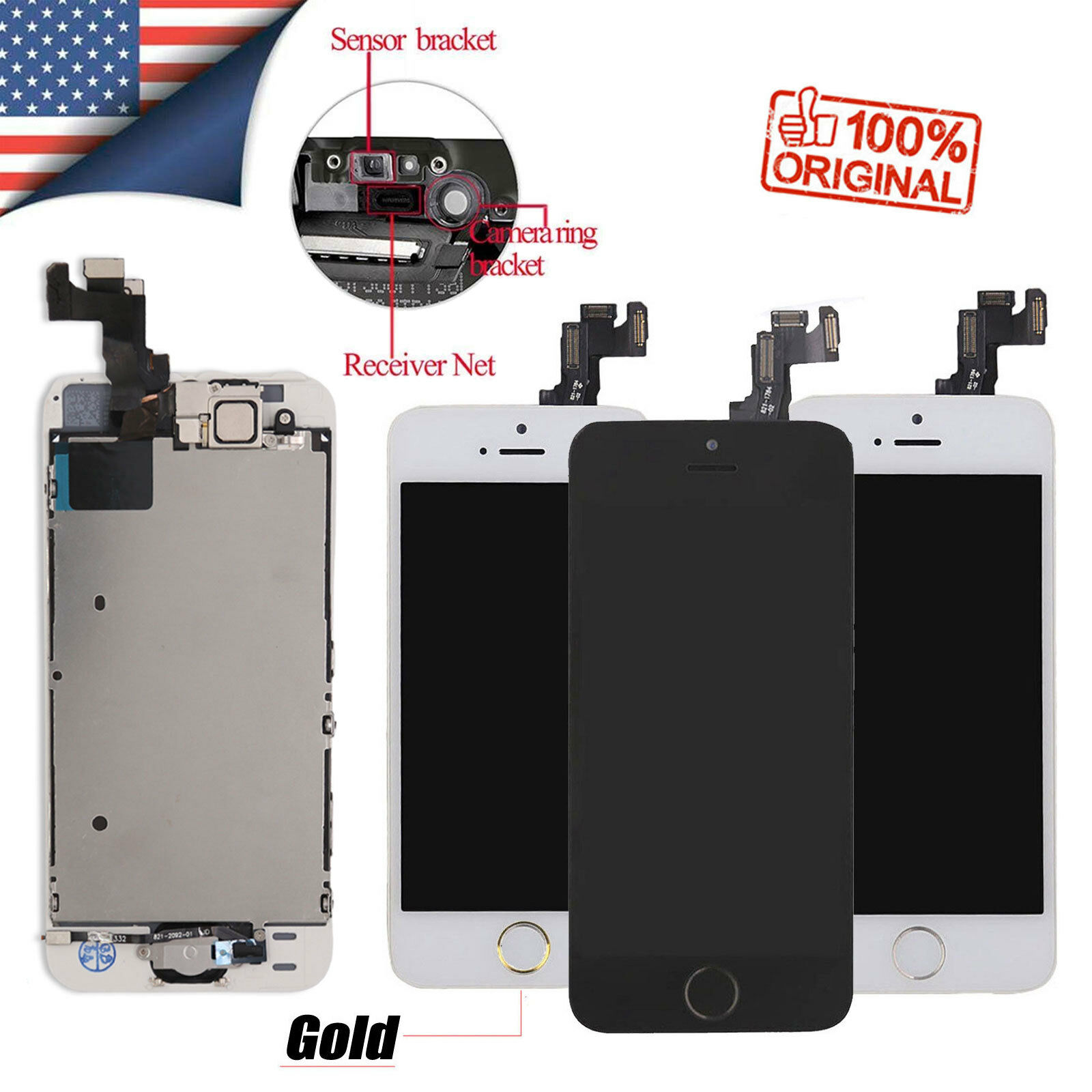 Prime For Iphone 5 Se 5S Screen Replacement Lcd Touch Digitizer Button Camera Assembly Gmtry Best Dining Table And Chair Ideas Images Gmtryco