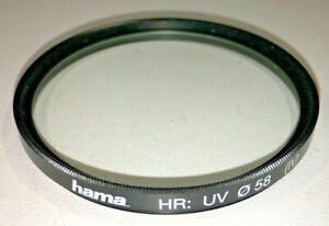 Hama-HR-58mm-UV-0-protective-filter-made-in-Japan-good-condition