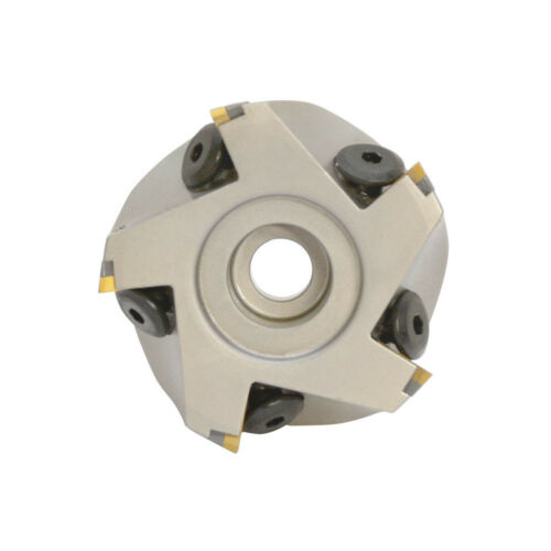 90 Degree Indexable Face Mill Cutter  3/'/' x 1/'/'  5 Flute TPG CNC Insert Carbide