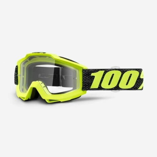 Anti-Fog Clear Lens 100/% ACCURI Adult Goggles Offroad MX Motocross TRESSE