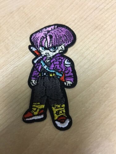 "Trunks Dragon Ball Z Embroidered Iron//Sew ON Patch Cloth Applique 3/"" x 1.25/"""