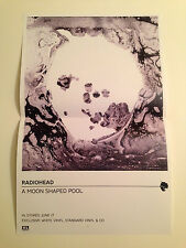 "RADIOHEAD PROMO 11""x17"" Poster for A Moon Shaped Pool Album New"