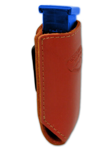 NEW Barsony Burgundy Leather Single Magazine Pouch Norinco Kimber Full Size 9mm