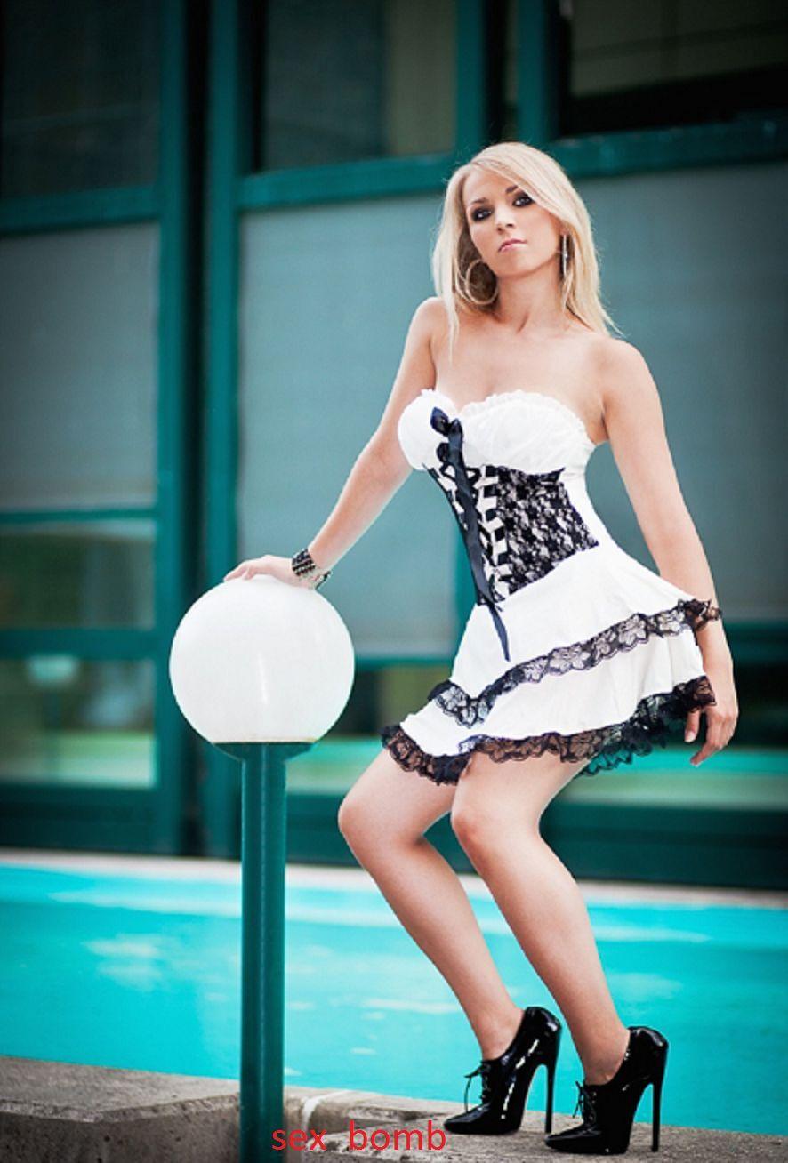 Sexy Scarpe Stringate Domina Nere Tacco Spillo 15 dal 35 al 46 Fashion GLAMOUR !