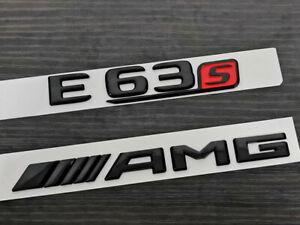 Black E63 V8 BITURBO Trunk Emblem Badge Sticker for Mercedes Benz E63 S AMG