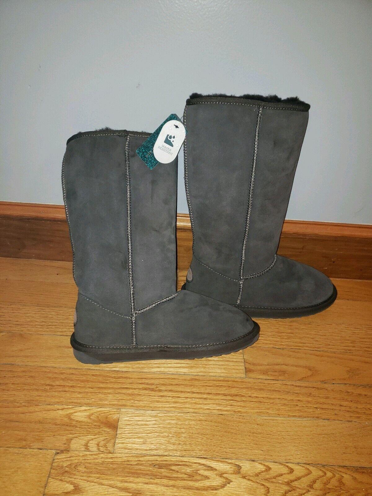 Emu Australia Winter Boots Mushroom Suede Sheepskin Sheepskin Sheepskin Stinger -Hi Women's 7 5dc901