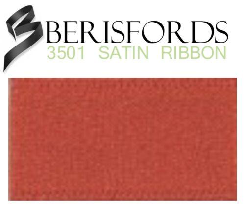 Full Bulk Roll 3501 Berisfords Double Satin Ribbon 45 COLOURS 15mm x 50m