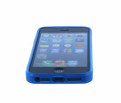 For iPhone 5 / 5S Blue Translucent Ultra Thin Soft TPU Cover Case Shell Skin