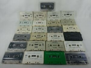 Lot of 25 Mixed Genres Loose Audio Cassette Tapes List in Description See Pics