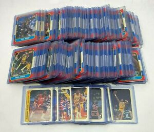 1986-87 Fleer Basketball Near Complete Set Missing Michael Jordan RC + Sticker