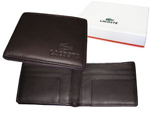 87fdf2e8be0 New Vintage LACOSTE City Classic (7) LEATHER WALLET Small Billfold ...