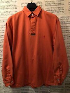 Original-MUSTO-Pullover-Polo-Shirt-Orange-Sailing-Rugby-Size-Medium