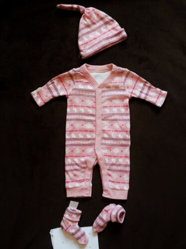 NWT Old Navy Girl 3-Piece Sleepers Set Fair Isle New Born Choose size 0-3 M
