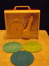 Vintage 1971 Fisher Price Music Box Record Player Works Great w Records