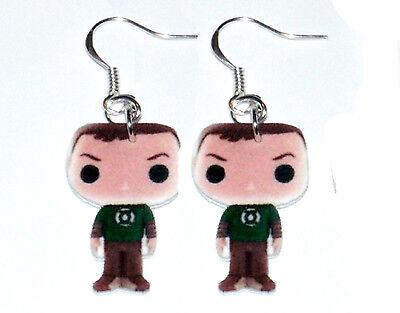 The Big Bang Theory Sheldon HANDMADE Plastic Charm Earrings Action Figure Style