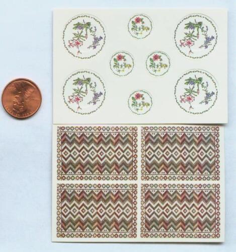 Miniature Dollhouse Kit Paper Plates-PlMat//OrientalGarden