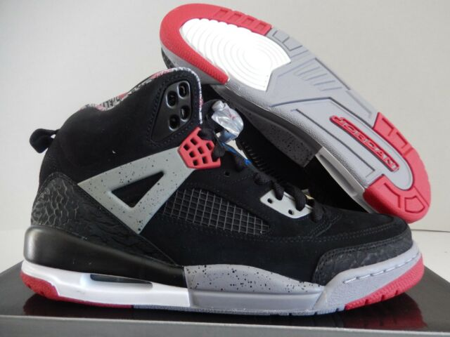 NIKE AIR JORDAN SPIZIKE BLACK- RED-CEMENT GREY SZ 9 2009 RELEASE  315371 8f76bad48