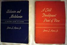 2 Classic Hymes Education Books:  Behavior and Misbehavior / Child Development..