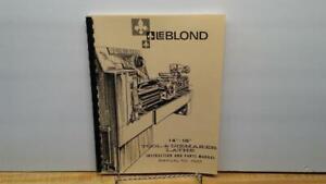 "Metal Fabrication Leblond 14"" 16"" Tool & Diemaker Lathe Instruction & Parts Manual Elegant And Graceful Business & Industrial"