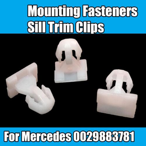 10x Clips De Fixation Clips Pour Mercedes Sills Trims Clips Plastique Blanc 0029883781