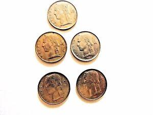 1967-77-Belgium-Five-5-Francs-Coin-034-One-Coin-Per-Order-034