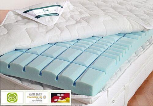 f.a.n 7-Zonen Kaltschaum Topper Matratzenauflage Vital S Allergiker geeignet