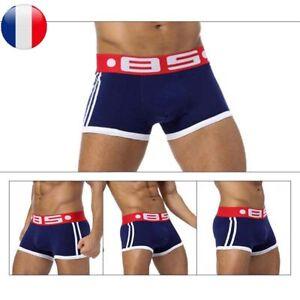 fddb3cc76bf23 2pcs Homme Sous-Vêtements Boxer Shorts Pochette Coton Caleçons ...