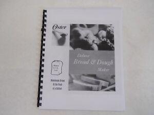 oster bread machine manual 4807 4811 4812 4839 5811 5812 5814 5815 rh ebay com oster 5821 manual pdf oster 5821 manual pdf