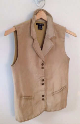 Women's Large Beige Willi Smith Suede Vest