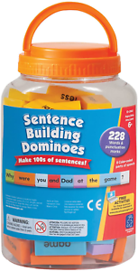 114 Double-Side Educational Insights Sentence Building Dominoes Ages 6 and Up,