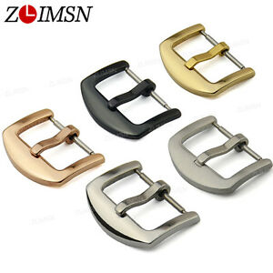 Watch-Band-Buckle-Stainless-Steel-Silver-Gold-Plated-Clasp-16mm-26mm-Wholesale