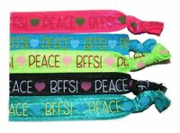 Ponytail Hair Band Peace-bffs Girl's Accessories, Hair Accessories (set Of 5)