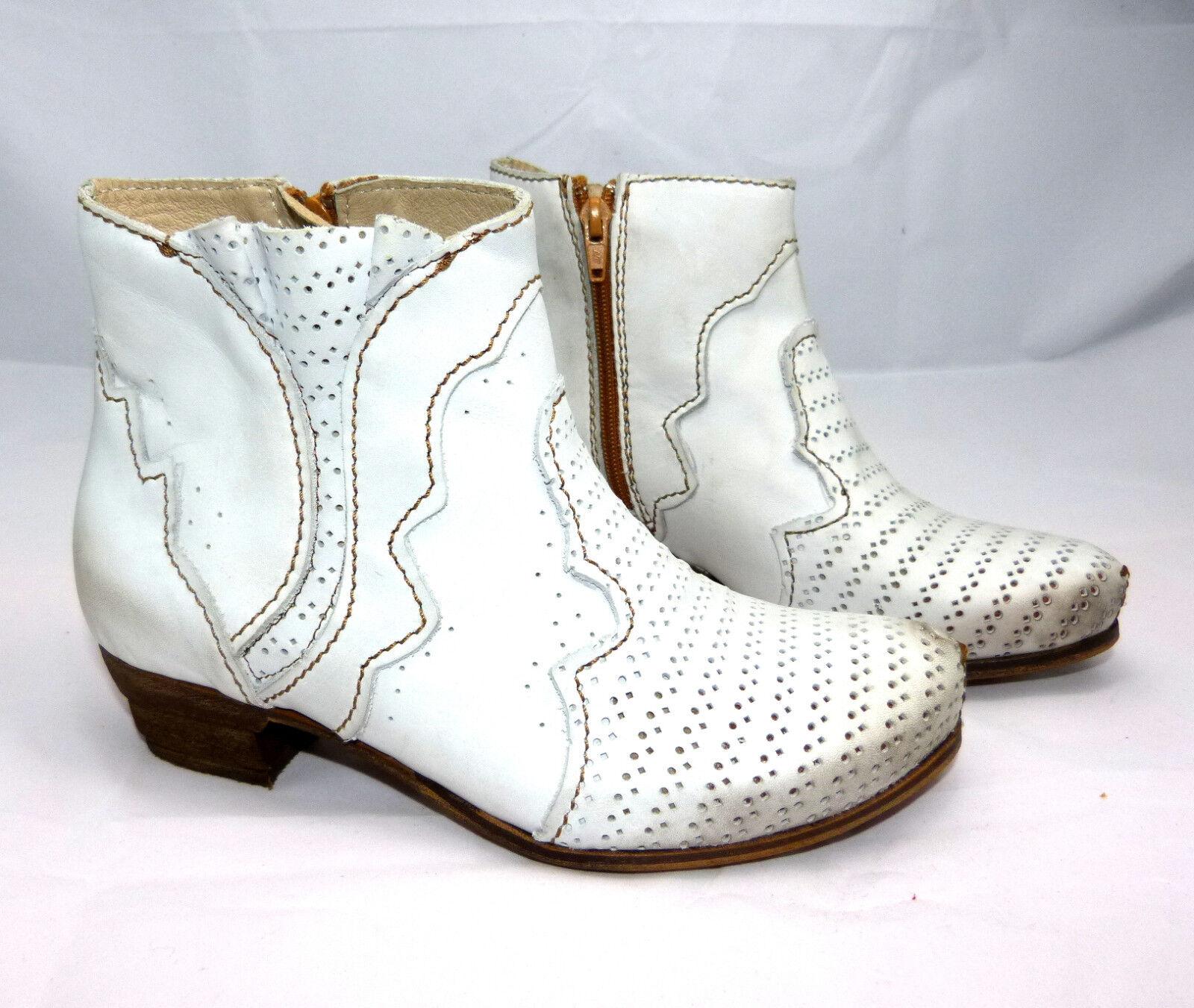 Rovers Damen Stiefelette Gr. 39 weiß nieve Stiefel Leder neu ( bisher 184,90 )