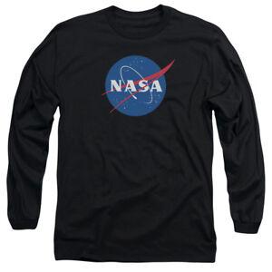 NASA MEATBALL LOGO Licensed Adult Men s Long Sleeve Graphic Tee ... bb104bc55