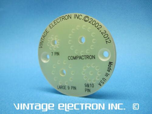Compactron NEW Vacuum Tube Tester Pin Straightener Novar 9 Magnoval 7 10