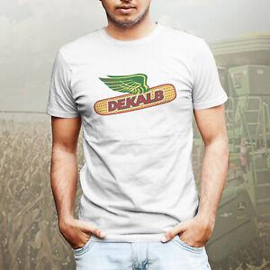 Details about Dekalb Corn Seed Farmer Farm Wear Vintage Retro Logo Mens Tee  T-Shirt White
