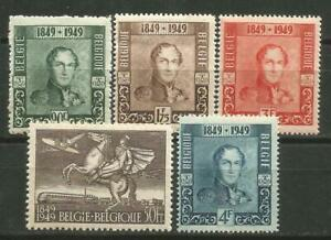 Belgium-Scott-386-389-C12-MNH-Centenary-of-Stamp-1949