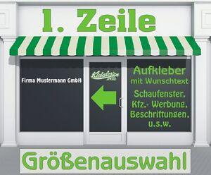 1-Zeile-Aufkleber-Beschriftung-Groessenauswahl-Sticker-Schaufenster-Lkw-Auto-KfZ